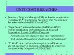 unit cost breaches1