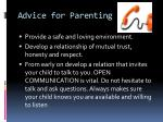 advice for parenting