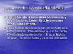 resumen de la santidad de jesus1