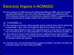 electricity imports in acm0002