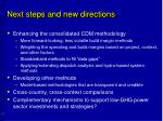 next steps and new directions