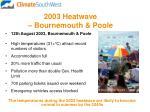 2003 heatwave bournemouth poole
