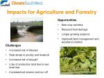 impacts for agriculture and forestry