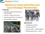 impacts for local authorities and local strategic partnerships