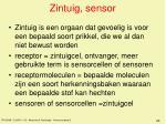 zintuig sensor