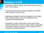 strategies of dhf