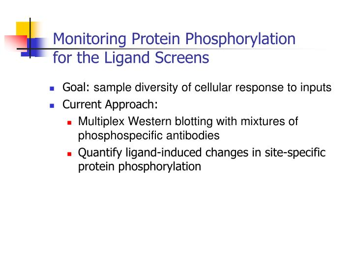 monitoring protein phosphorylation for the ligand screens n.
