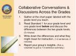 collaborative conversations discussions across the grades