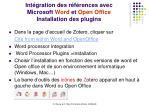 int gration des r f rences avec microsoft word et open office installation des plugins