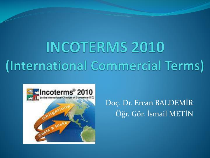 incoterms 2010 international commercial terms n.
