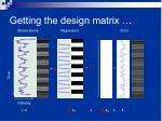 getting the design matrix1