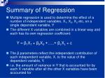 summary of regression1