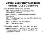 clinical laboratory standards institute clsi guidelines
