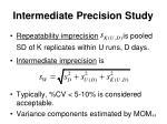 intermediate precision study