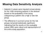 missing data sensitivity analysis