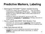 predictive markers labeling