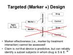 targeted marker design