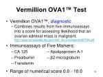 vermillion ova1 test