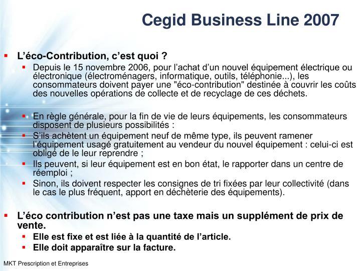 Cegid Business Line 2007