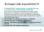 euroopa liidu kujunemine iv
