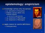 epistemology empiricism