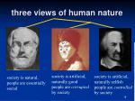 three views of human nature