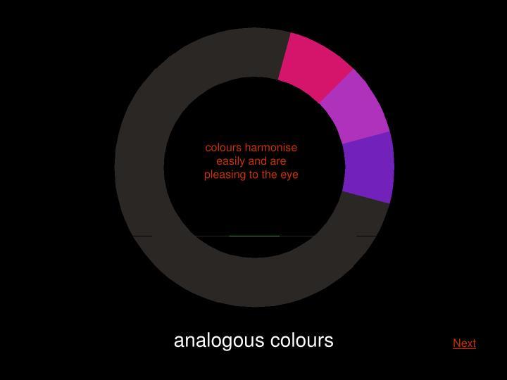 colours harmonise