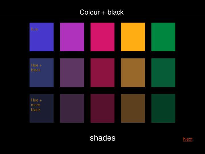 Colour + black