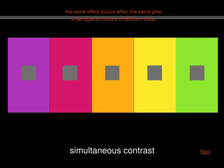 the same effect occurs when the same grey