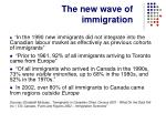 the new wave of immigration