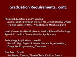 graduation requirements cont