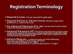 registration terminology1
