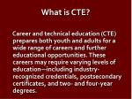 what is cte