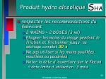 produit hydro alcoolique