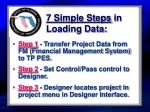 7 simple steps in loading data