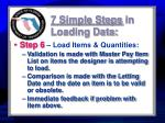 7 simple steps in loading data2