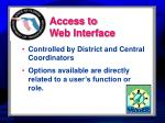 access to web interface