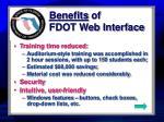 benefits of fdot web interface