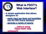 what is fdot s web interface