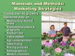 materials and methods marketing strategies