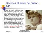 david es el autor del salmo 1452