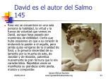 david es el autor del salmo 1453