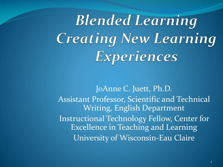 blended learning creating new learning experiences n.