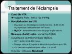 traitement de l clampsie