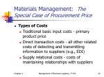 materials management the special case of procurement price1