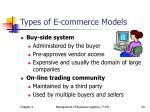 types of e commerce models