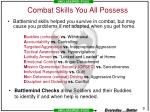 combat skills you all possess
