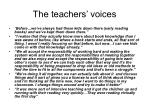 the teachers voices