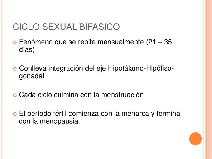 Ciclo sexual bifasico