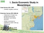1 socio economic study in mozambique